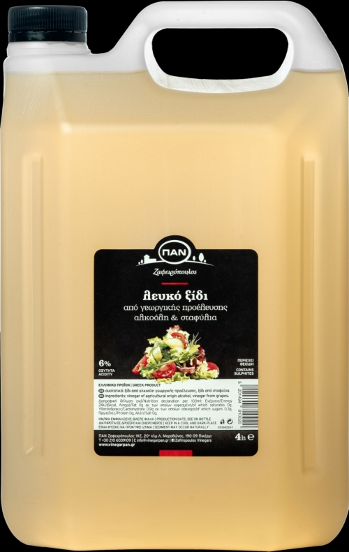 PAN REAL WHITE VINEGAR, 4lt plastic container